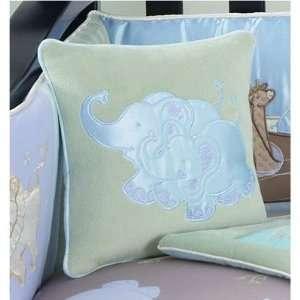 Jessica Breedlove Noahs Ark Pillow, Blue/Brown Baby