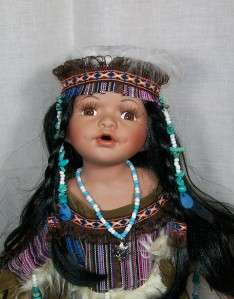 16 IN. INDIAN Reproduction PORCELAIN DOLL TADI