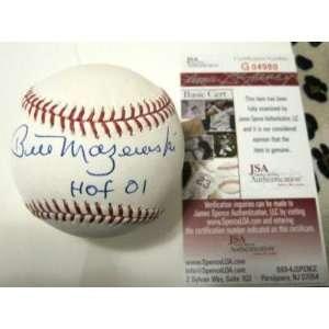 Bill Mazeroski Signed Ball   Hof 01 Official M l W jsa   Autographed