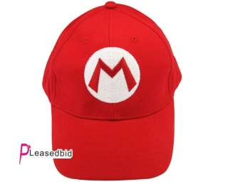 Red Super Mario Bros.Fashion Embroidered Cap Hat SBC 01R