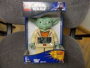 Lego Star Wars Yoda Mini Figure Alarm Clock, New,Mint