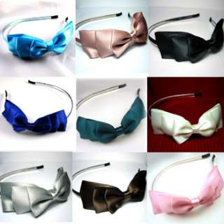 ADDL Item  Fashion bow tie silky fabric headband wedding
