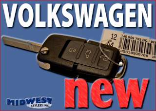 VW VOLKSWAGEN REMOTE FLIP SWITCHBLADE KEY FOB ENTRY