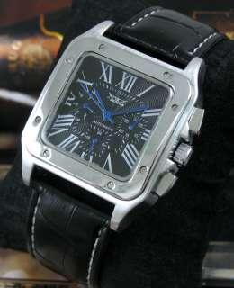 Luxury Square Designer AUTO Mechanical Mens Watch Swiss