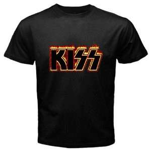Kiss Band Music Black Color T shirt Logo II