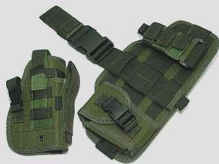 SWAT Component Pouch Molle Drop Leg Pistol Holster OD