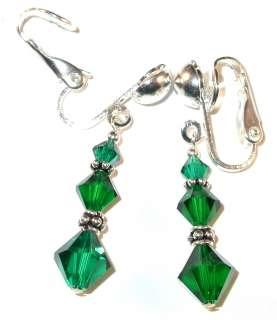 SWAROVSKI CRYSTAL ELEMENTS Bali Sterling Silver Dangle Earrings
