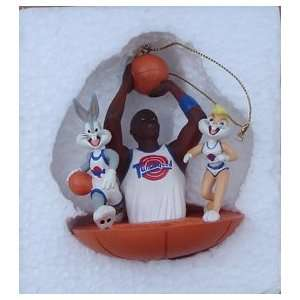 Michael Jordon & Bugs Bunny Space Jam Christmas Ornament In Colorful