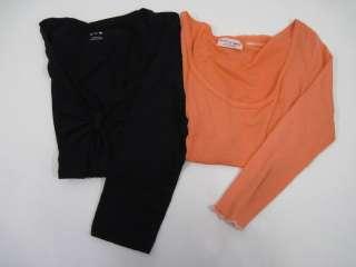 LOT 2 MICHAEL STARS & 3 DOTS Orange Black Shirts Sz. L