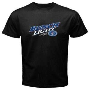 Busch Light Beer Logo New Black T shirt Size S