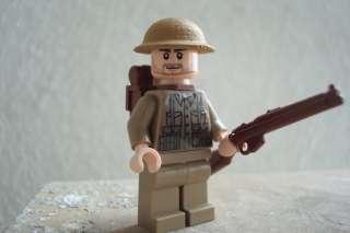 CUSTOM LEGO MINIFIG WW2 BRITISH TOMMY SOLDIER INFANTRY