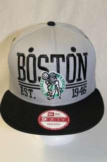 BOSTON CELTICS NBA NEW ERA 9FIFTY SNAPBACK HAT CAP ESTABLISHED P6 GRAY