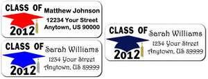 Graduation Class of 2012 Cap Personalized Return Address Labels Style
