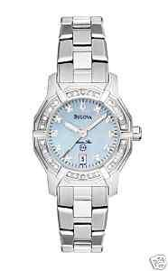 New! Ladies Bulova Marine Star Diamond Watch 96R109