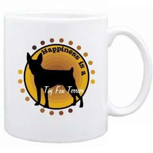 New  Happiness Is Toy Fox Terrier  Mug Dog