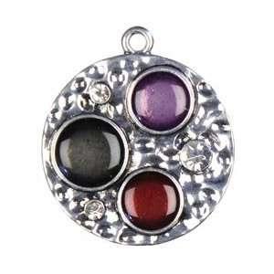 Cousin Jewelry Basics Metal Pendant 1/Pkg Silver Palette