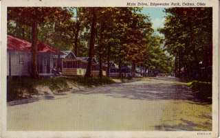 Postcard 163894 Edgewater Park Celina OH Cabins