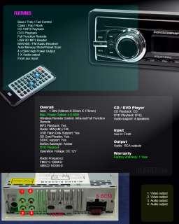 IN DASH DVD CD CAR STEREO PLAYER DETACHABLE FACE 650a