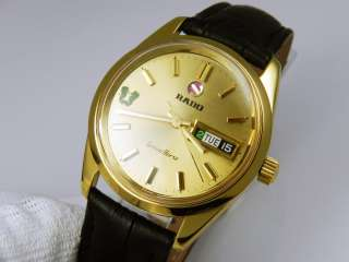 Mens RADO GREEN HORSE 18KGP/SS Automatic Gold Dial