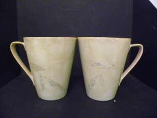 Pier 1 ANTIQUED Tall Latte Coffee Cup Mugs Set Lot 5