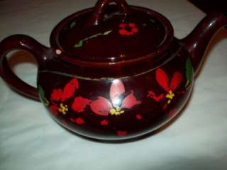 Teapot Royal Canadian Art Pottery Vintage Brown Large