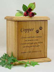 Large Stairway Poem Pet Cremation Urn/Dog & Cat Urn