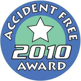Accident Free 2010 Award Label