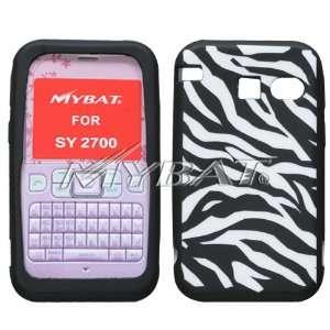 SANYO 2700 Laser Zebra Skin (White/Black) Skin Case