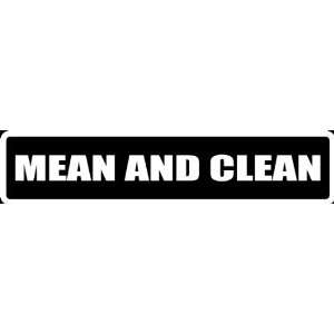 Att42) 8 White Vinyl Decal Mean and Clean Thing Funny Saying Die Cut