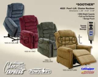 CATNAPPER SOOTHER PWR LIFT FULL LAYOUT CHAISE RECLINER