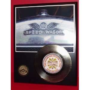 R E O SPEEDWAGON GOLD RECORD LIMITED EDITION DISPLAY