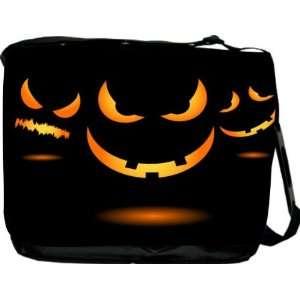 Rikki KnightTM Halloween Evil Jack Glow on Black Messenger Bag   Book
