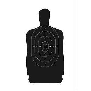 Silhouette Paper Target 24x45 Inch 100 Per 37002: Sports & Outdoors