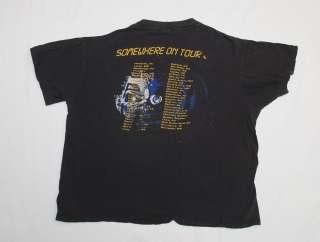 VINTAGE IRON MAIDEN SOMEWHERE ON TOUR 87 CONCERT TOUR T SHIRT TEE 80s
