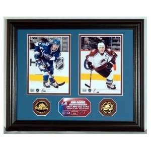 Joe Sakic 2007 All Star Photo Mint w/ Two 24KT Gold Coins