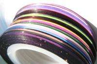 18 Color Rolls Striping Tape Line Nail Art Decoration Sticker.