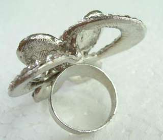 CLEAR SWAROVSKI CRYSTAL BUTTERFLY RING SIZE 7 1/4 837A2