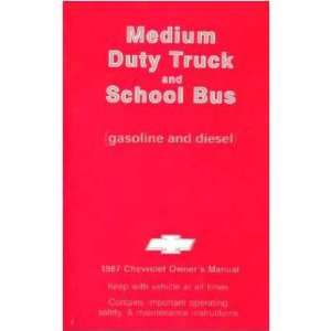 1987 GMC MEDIUM DUTY TRUCK Owners Manual User Guide