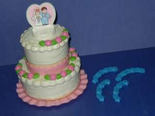 Fisher Price Fun With Food Wedding Cake 17 pieces 1987 31C
