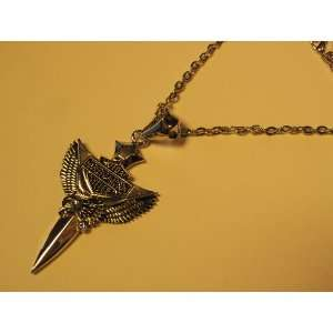 MOTORCYCLE HARLEY STYLE BIKER JEWELRY EAGLE AND SWORD NECKLACE PENDANT