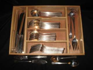 ONEIDA COMMUNITY PAR PLATE CHARM SILVERPLATE FLATWARE SET   61 PIECES