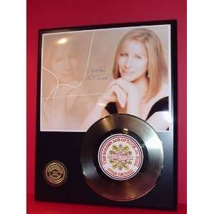Barbra Streisand 24kt Gold Record LTD Edition Display ***FREE PRIORITY
