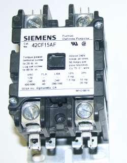 NIB Siemens Furnas 42CF15AF 2 Pole 120V Definite Purpose Contactor