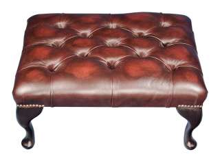 Chesterfield Suite Sofa Wing Back Club Chair Ottoman Set