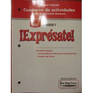 Holt Spanish 1 Expresate Teachers Edition Cuaderno de