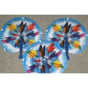 Tropical Fish Paper Folding Fans w/ Plastic Handles Everything Else