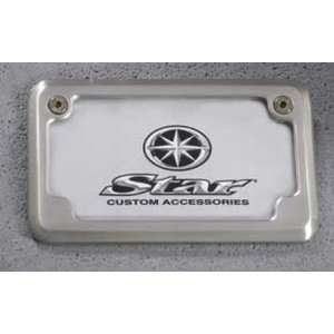 Genuine Yamaha O.E.M. Star Motorcycles Billet License Plate Frame