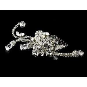 Rhinestone and Crystal Bridal Hair Comb Beauty