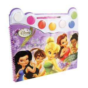 TinkerBell Watercolor Paint & Design Story Coloring Book Toys & Games