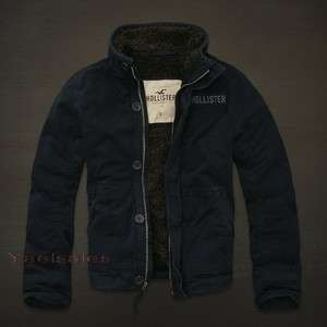 by Abercrombie Mens Warm Jacket Coat Outerwear with Sherpa Lining NWT